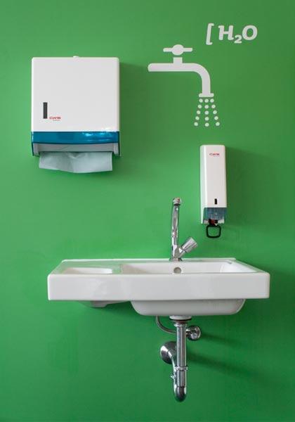 Piktogramm Wasserhahn am Waschbecken