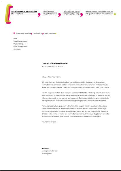 Briefbogen Schulzentrum